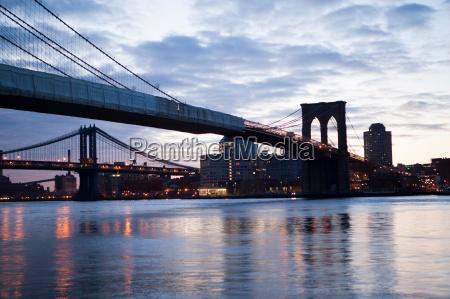 brooklyn bridge and manhattan bridge new