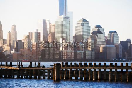 old pier and manhattan skyline new