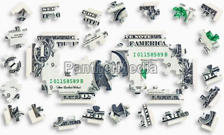 ukladanka banknotow