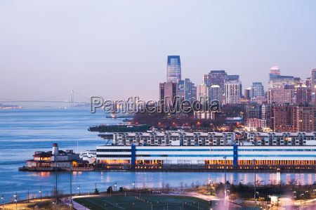 jersey city skyline and waterfront at
