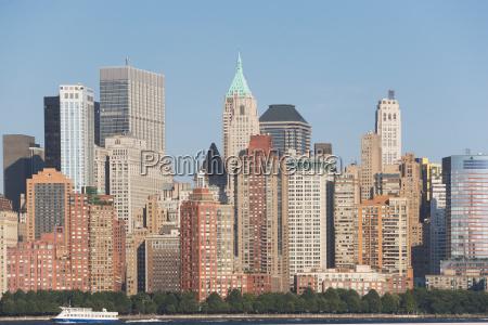 manhattan skyline new york city usa