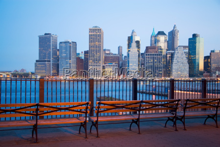 view of new york skyline from