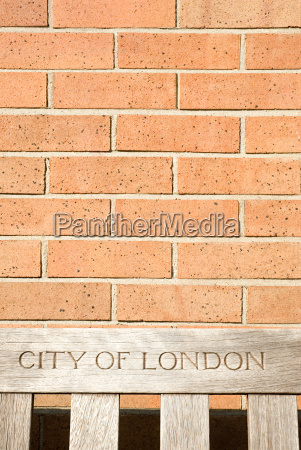 city of london bench