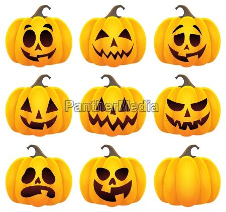 halloween pumpkins zestaw motyw 1