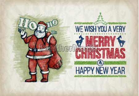wektor recznie rysowane christmas graphic design