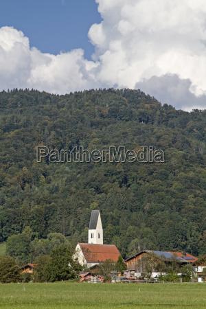 nut village with parish church st