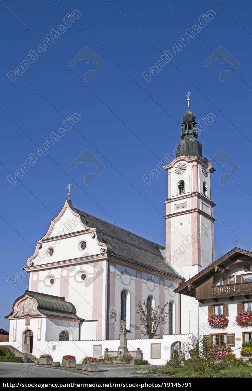 pfarrkirche, st., martin, in, flintsbach - 19145791
