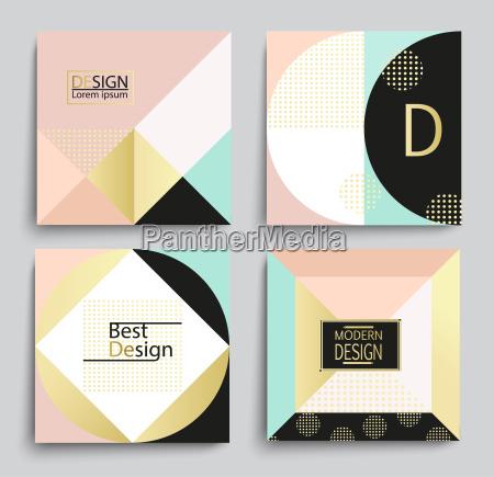 zestaw eleganckich geometrycznych szablonow banerow