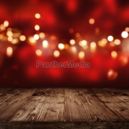 czerwone tlo z zlote swiatla
