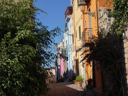 italy sardinia bosa town on