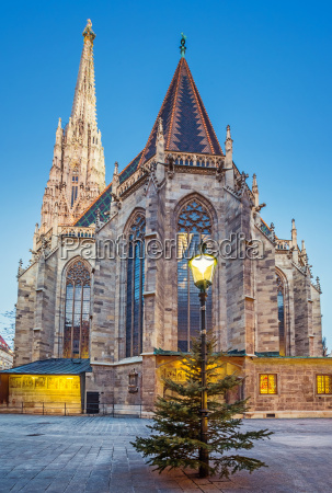 st stephan cathedral and christmas tree