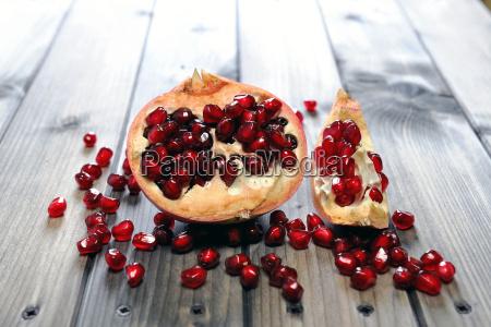 zbliżenie, dojrzałych, owoców, granatu - 19211995