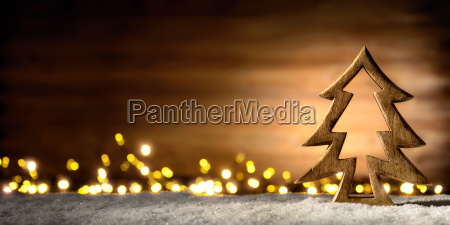 christmas scene of wood in the