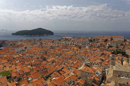 croatia dubrovnik view from city wall