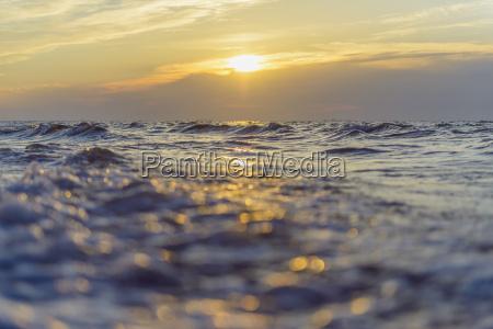 baltic sea at sunrise bunken aalbaek