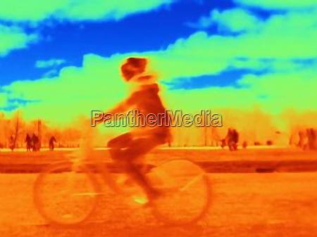 person cycling on bike kensington park