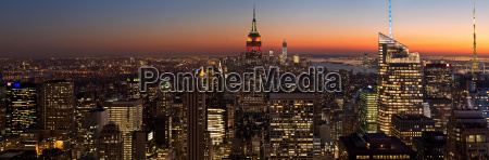 panoramic view from rockefeller centre manhattan