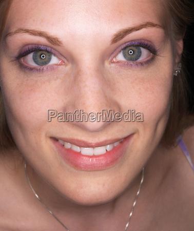 smiling woman portrait close up