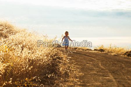 girl taking walk mt diablo state
