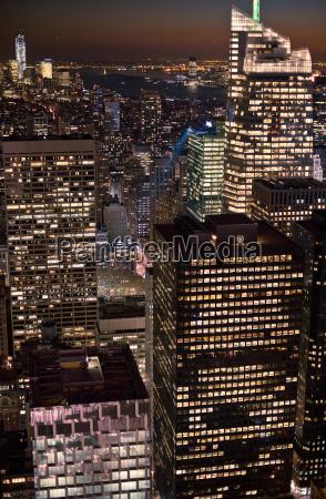 widok, z, rockefeller, centre, manhattan, new, york, city, usa - 19505170
