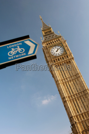 big ben and a cycling public