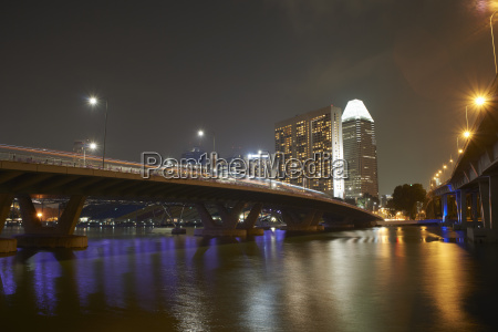 view of bridge and skyscrapers at