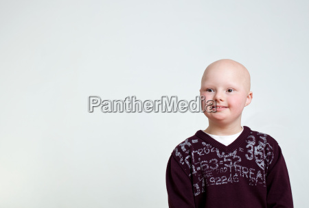 portrait of boy with downs syndrome