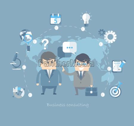 plaski projekt wektora koncepcji dla biznesu