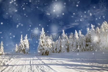 fantastyczna zima krajobraz