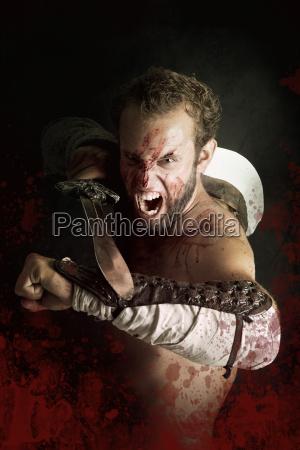 bitwa wojna krew krwi wojownik walki
