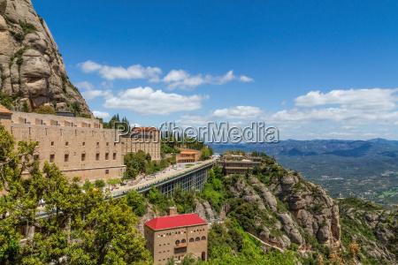 tall mountain around the monastery of