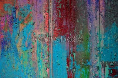 kolorowe drewniane sciany turkusowy czerwony