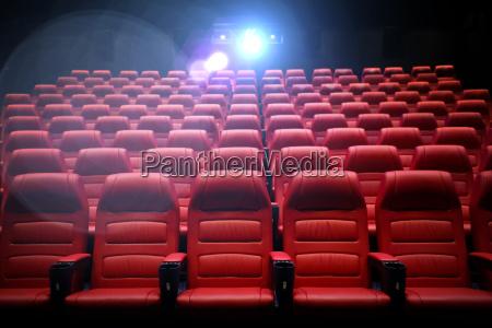 kino pusty audytorium z siedzeniami