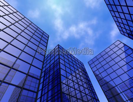 buildings office finance tower glass windows