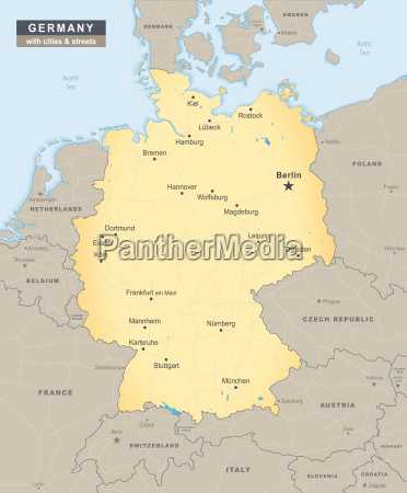 niemcy przeglad mapa z ulic i