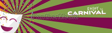 banner cieszyc maska karnawalowa z konfetti