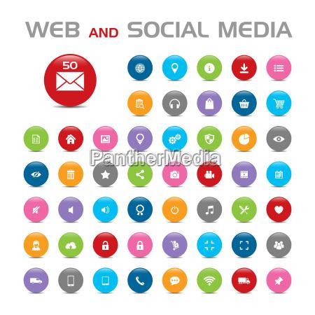 social media buble ikony
