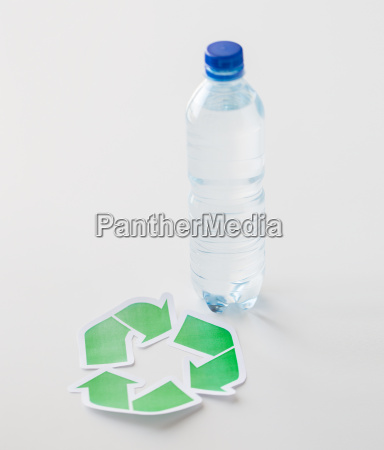 close up of plastic bottle and