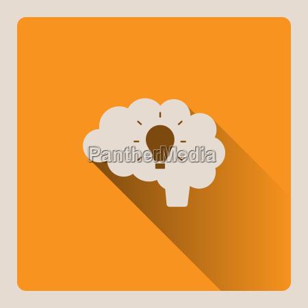 mozg myslenia ilustracji pomysl na