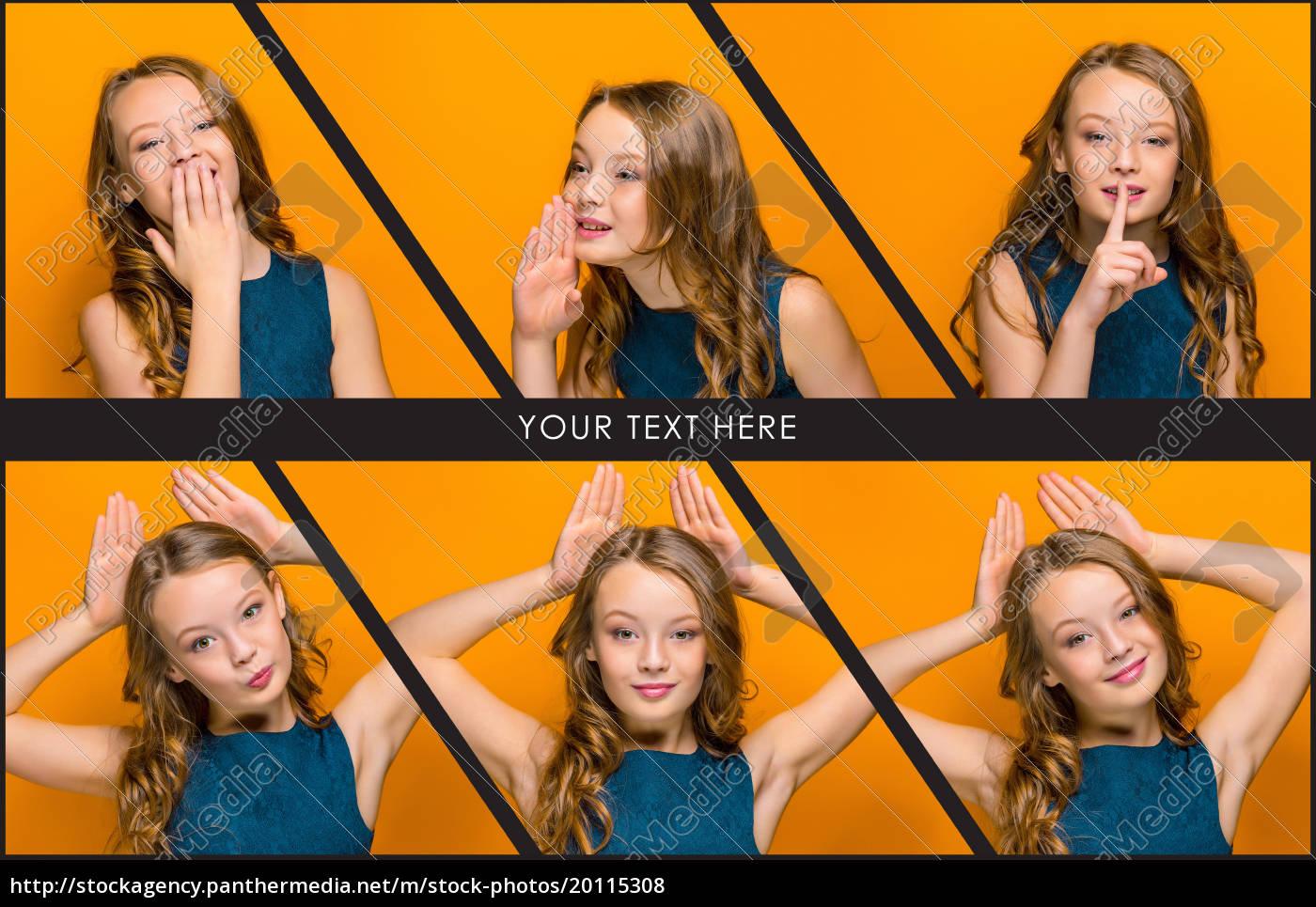 twarz, zabawy, z, okazji, dziewczyna, teen - 20115308