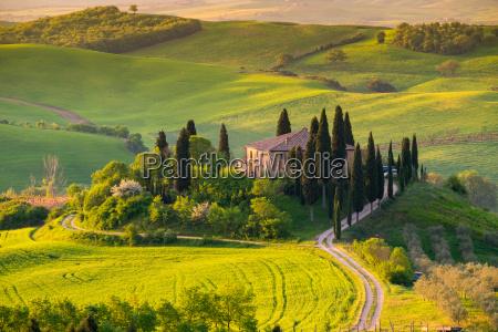 toskania krajobraz panoramiczny wlochy