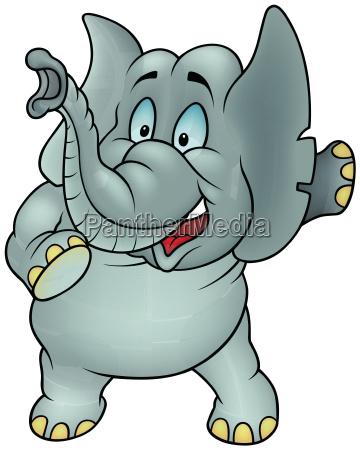 zwierze slon cartoon kreskowka animowany
