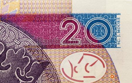 polskie banknoty close up