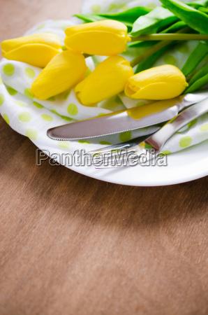 wiosna tabeli na wielkanoc lub dzien