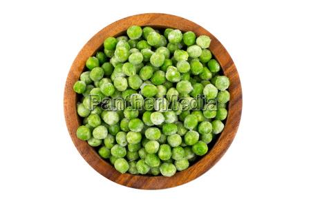 zielone mrozonego groszku