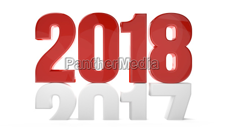 2018 2017 nowy rok sylvester symbol
