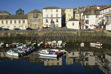morning reflections falmouth cornwall england united