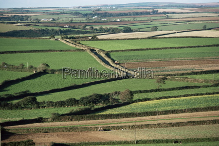 fields near st austell cornwall england