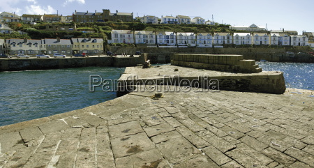 the holiday resort town of porthleven
