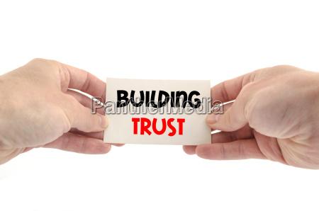 koncepcja tekstu zaufania budynku